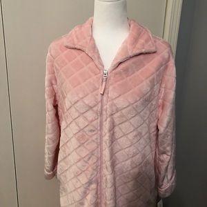 Miss Elaine NWT Pink Zippered Bathrobe Size SP